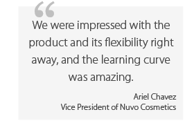 Nuvo Cosmetics - Ariel Chavez quote