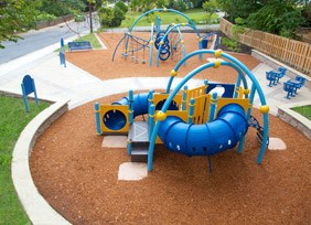 Overhead view of Zeager Bros. playground